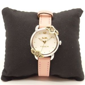 NWT COACH Delanacy Tea Rose Pink Leather Watch